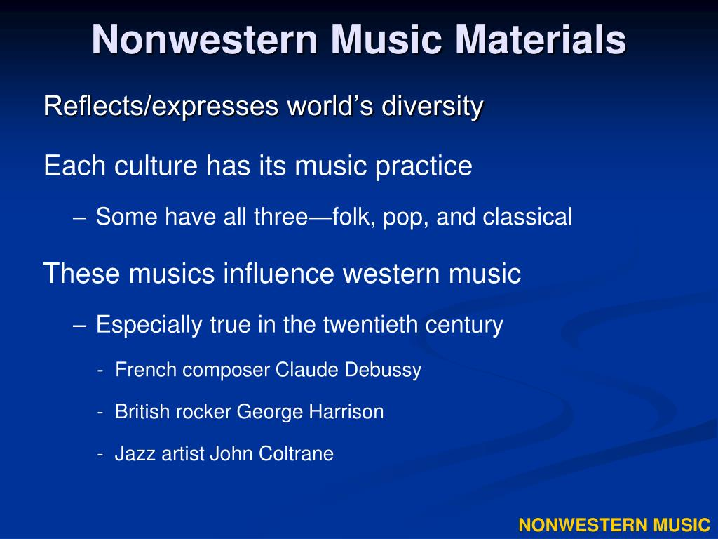 Nonwestern Music Materials