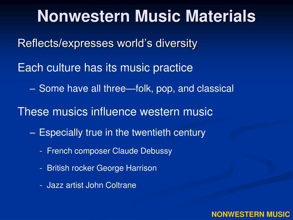 nonwestern music materials