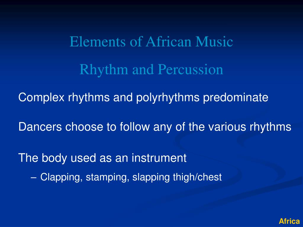 Elements of African Music