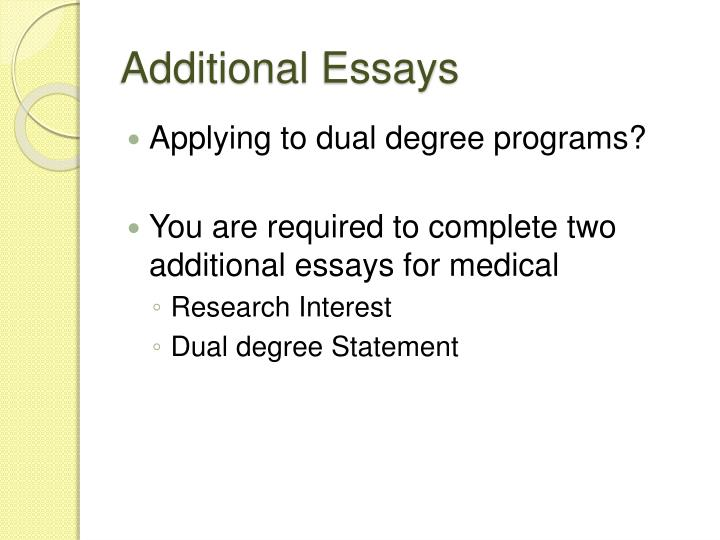 Additional Essays