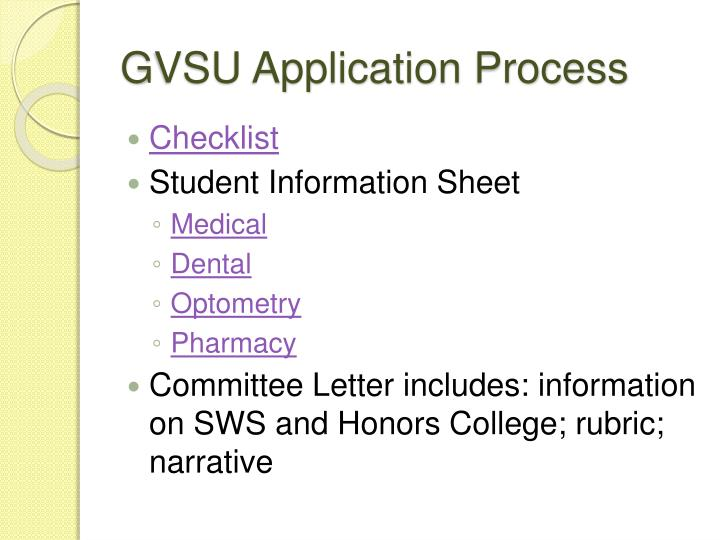 GVSU Application Process