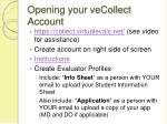opening your vecollect account
