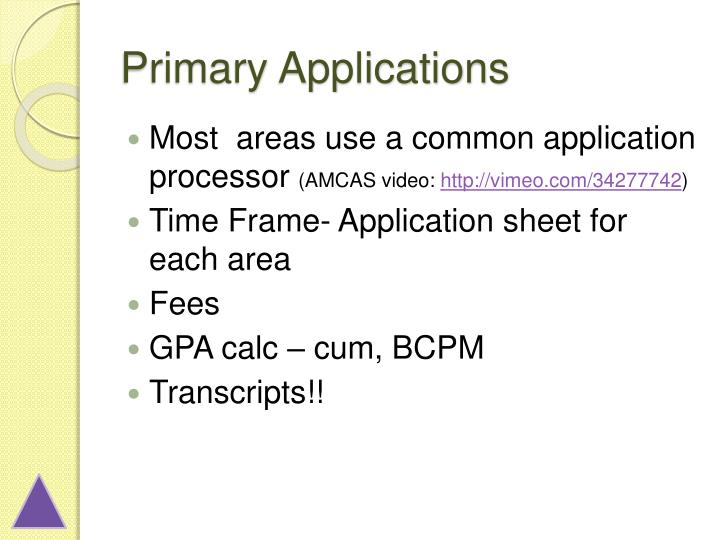Primary Applications