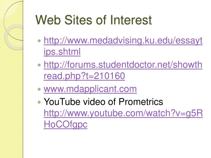 Web Sites of Interest
