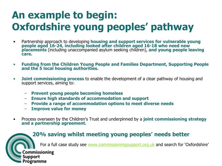 An example to begin oxfordshire young peoples pathway