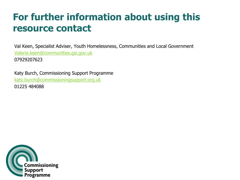 For further information about using this resource contact