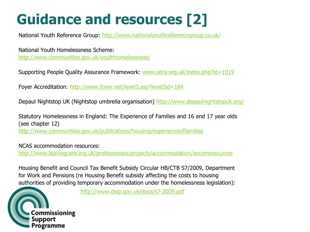 Guidance and resources [2]