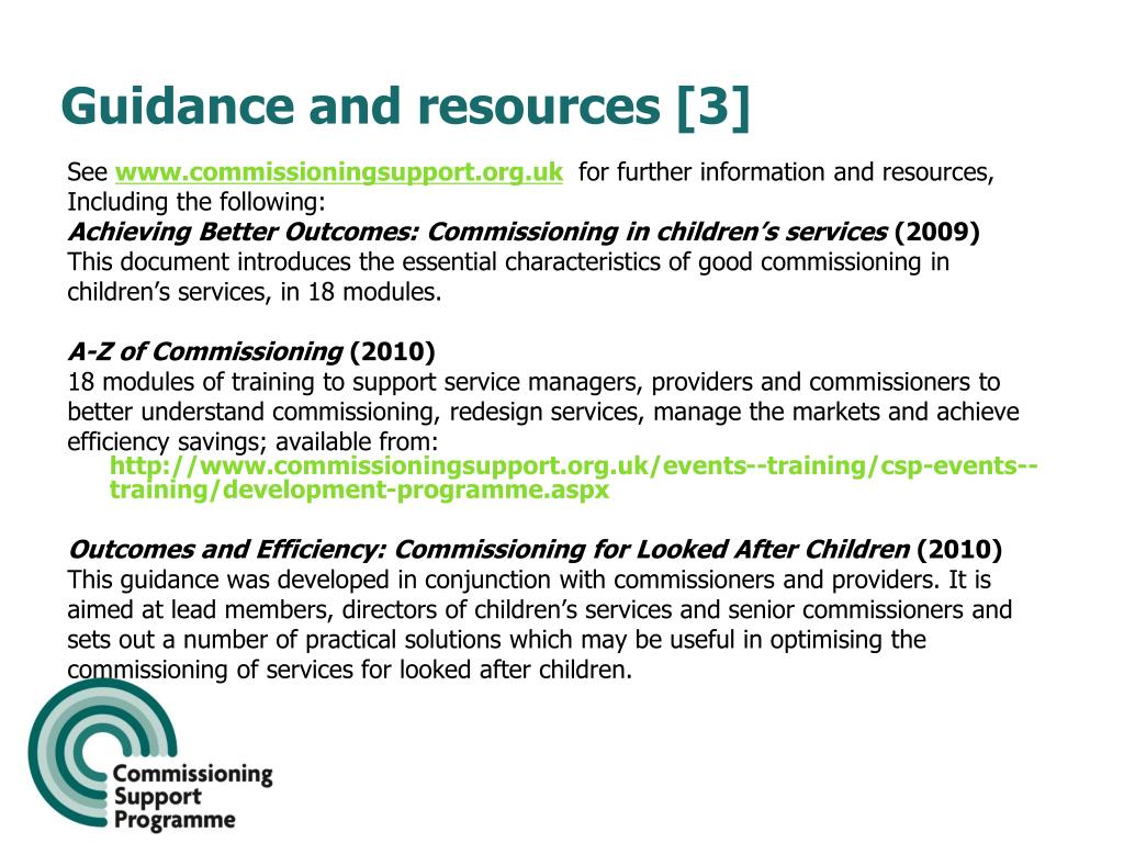 Guidance and resources [3]