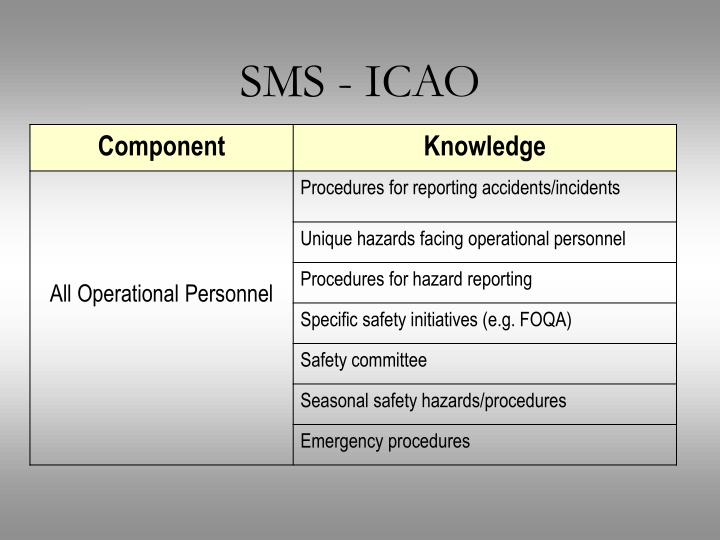 SMS - ICAO