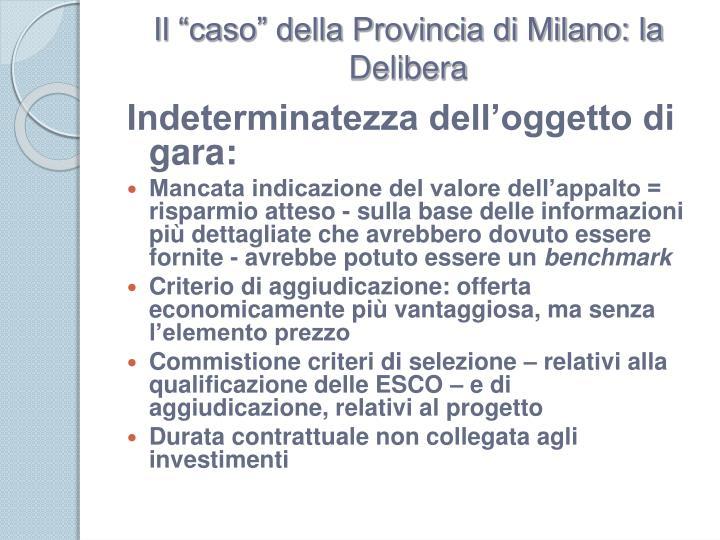 """Il """"caso"""" della Provincia di Milano: la Delibera"""