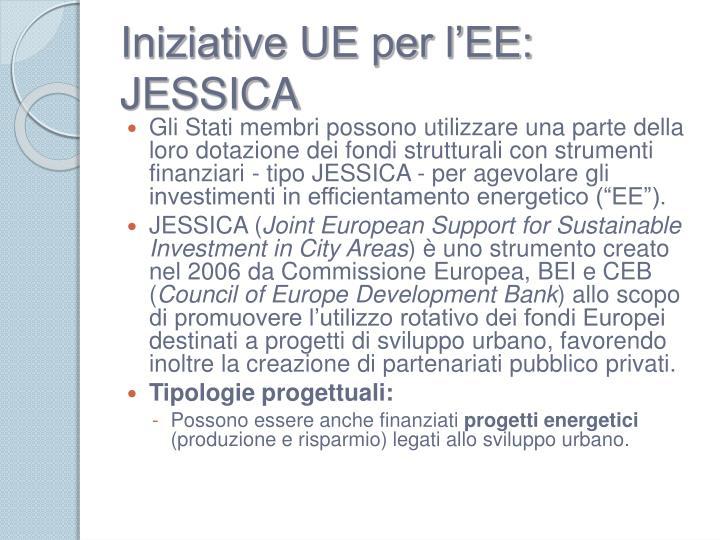 Iniziative UE per l'EE: JESSICA