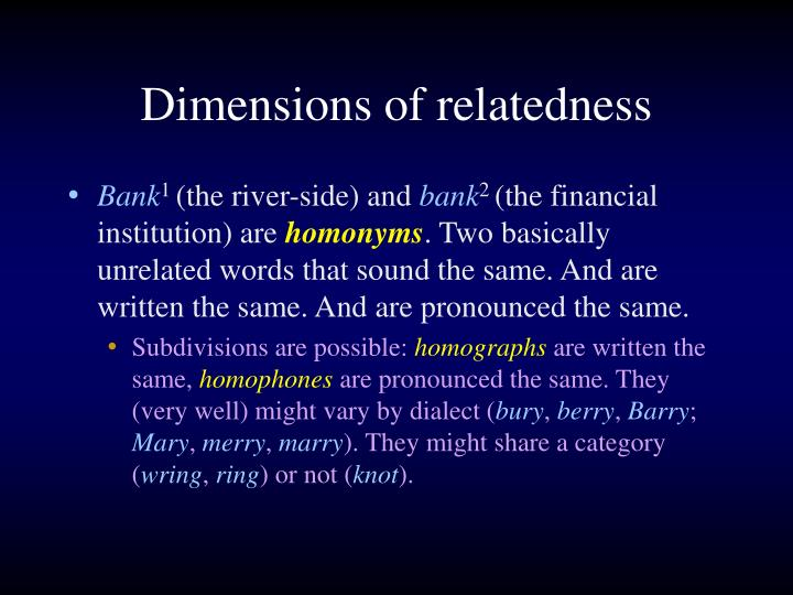 Dimensions of relatedness