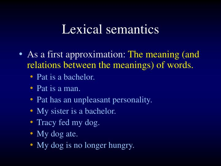 Lexical semantics
