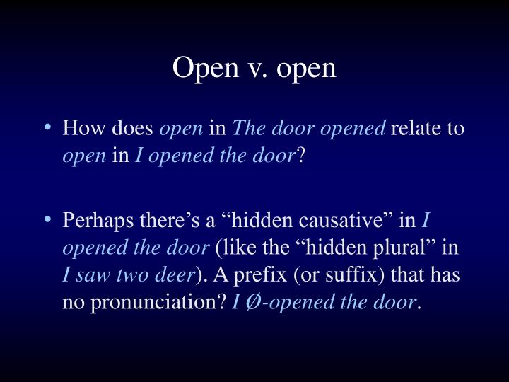 Open v. open