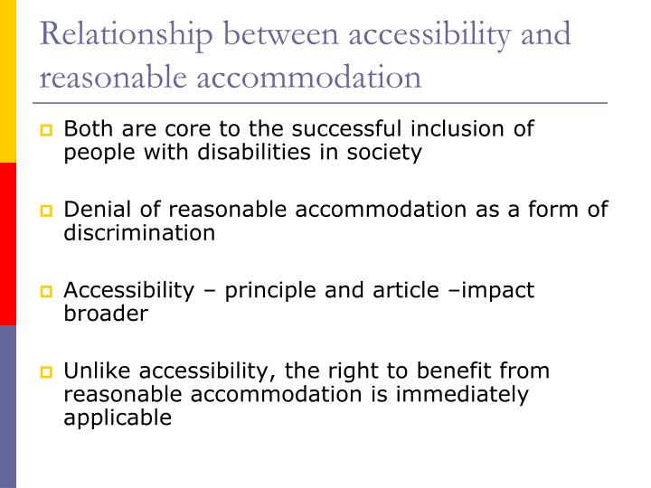Relationship between accessibility and reasonable accommodation