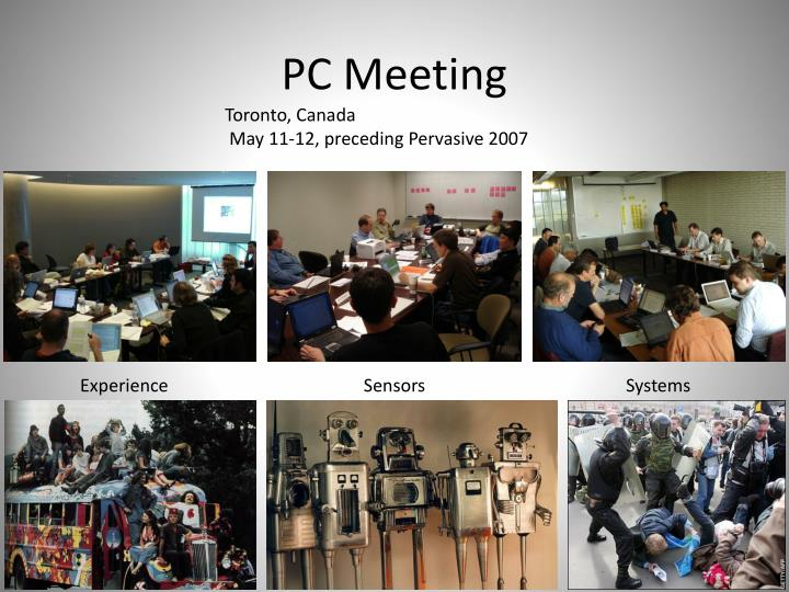 PC Meeting