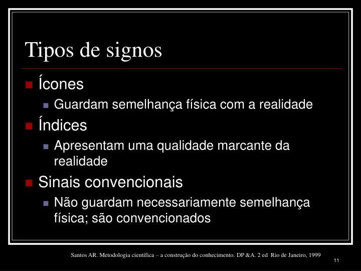 Tipos de signos