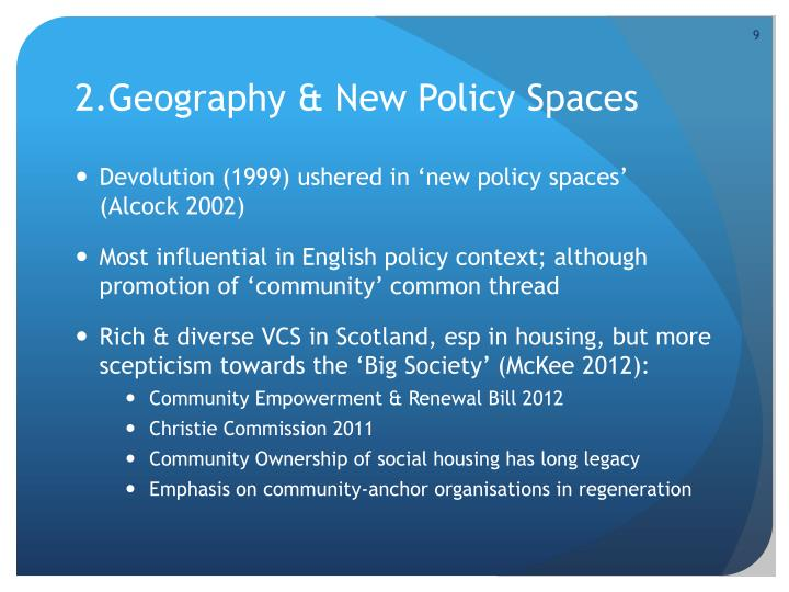2.Geography & New Policy Spaces