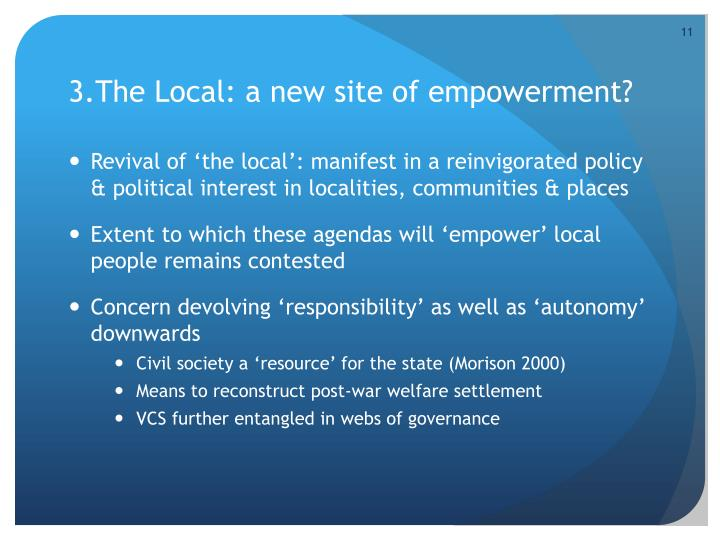 3.The Local: a new site of empowerment?