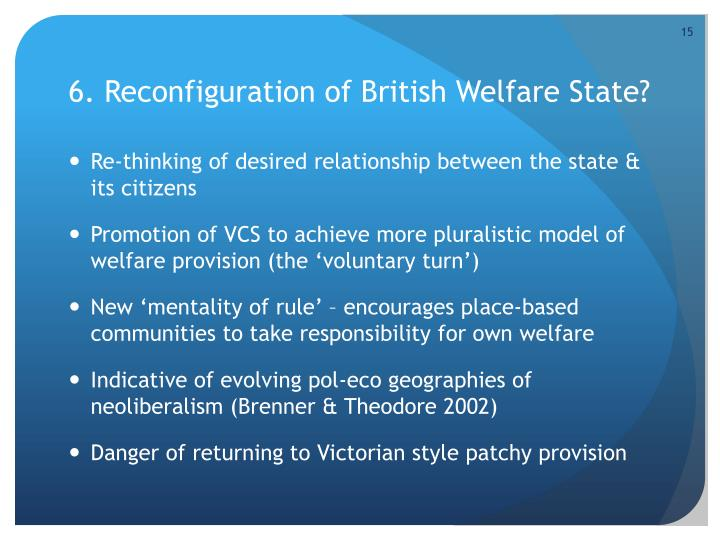 6. Reconfiguration of British Welfare State?