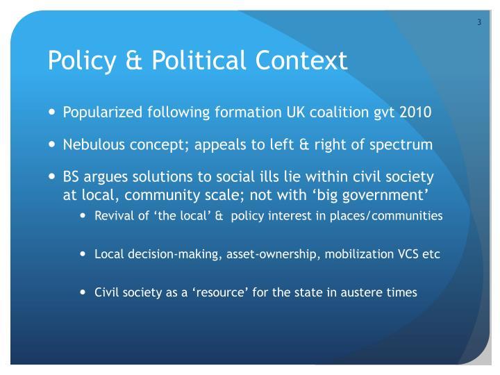 Policy & Political Context