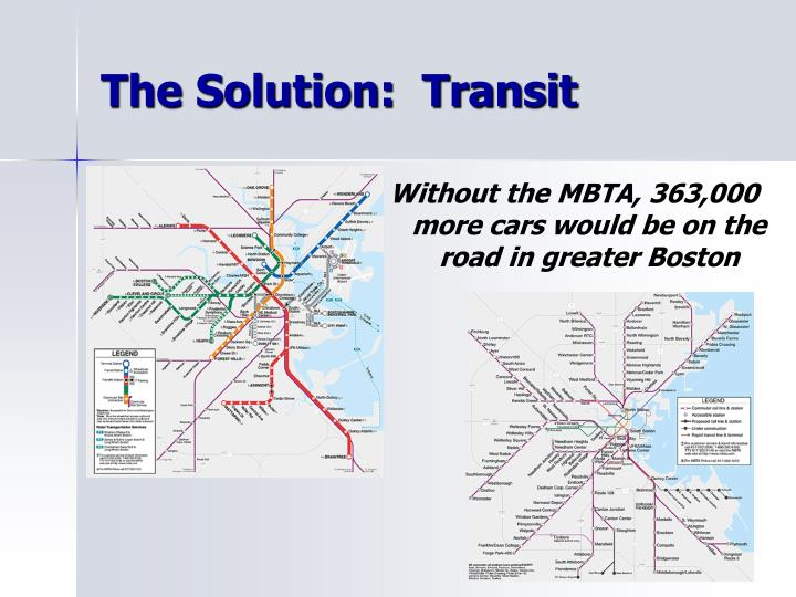 The Solution:  Transit