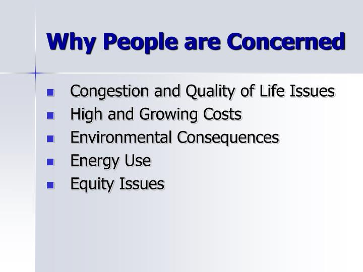 Why People are Concerned