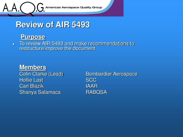 Review of air 5493