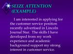 seize attention example