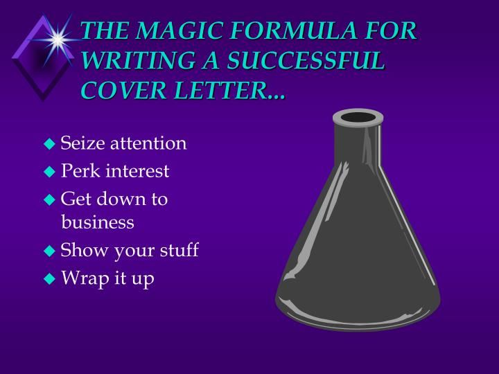 THE MAGIC FORMULA FOR WRITING A SUCCESSFUL COVER LETTER...