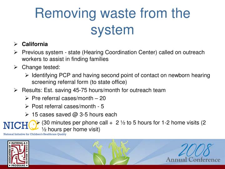 Removing waste from the system