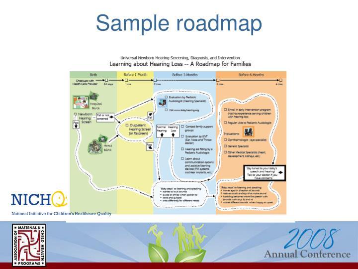 Sample roadmap