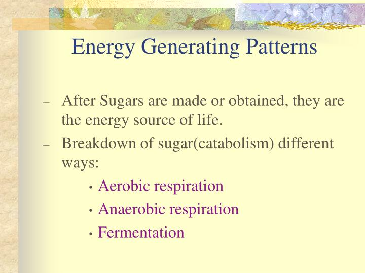 Energy Generating Patterns