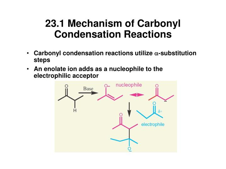 23.1 Mechanism of Carbonyl Condensation Reactions