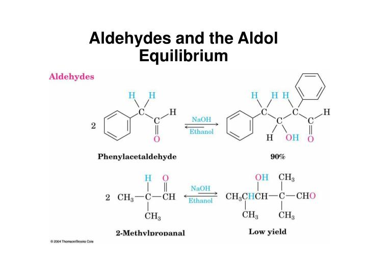 Aldehydes and the Aldol Equilibrium
