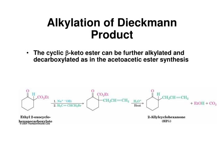 Alkylation of Dieckmann Product