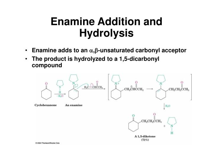 Enamine Addition and Hydrolysis