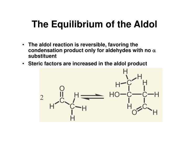 The Equilibrium of the Aldol