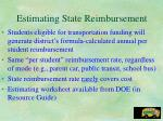 estimating state reimbursement