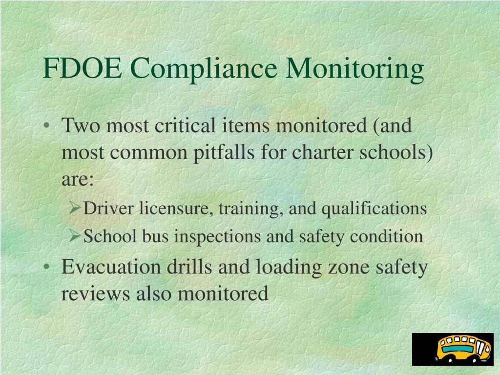 FDOE Compliance Monitoring