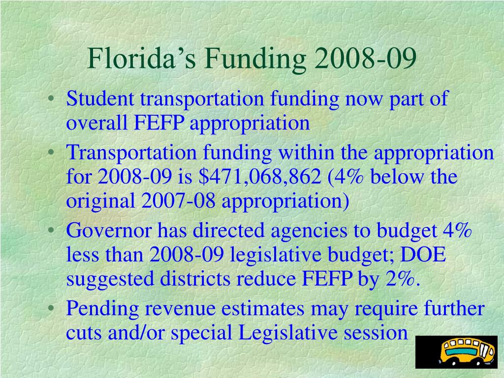 Florida's Funding 2008-09