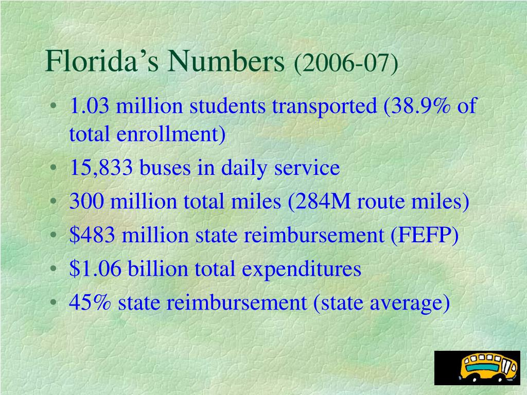 Florida's Numbers