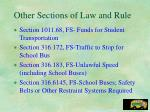 other sections of law and rule