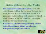 safety of buses vs other modes