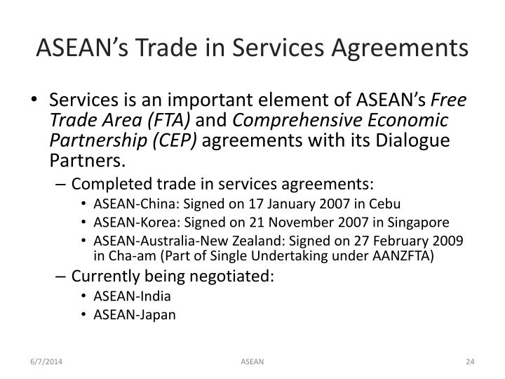 ASEAN's Trade in Services Agreements