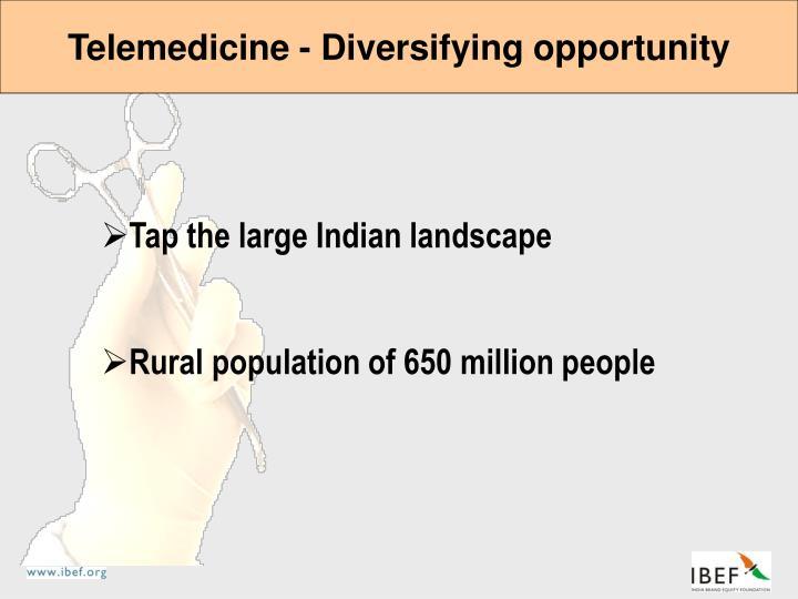 Telemedicine - Diversifying opportunity