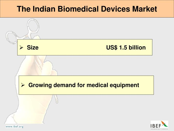 The Indian Biomedical Devices Market
