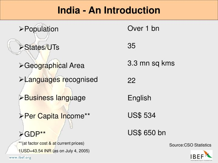 India - An Introduction