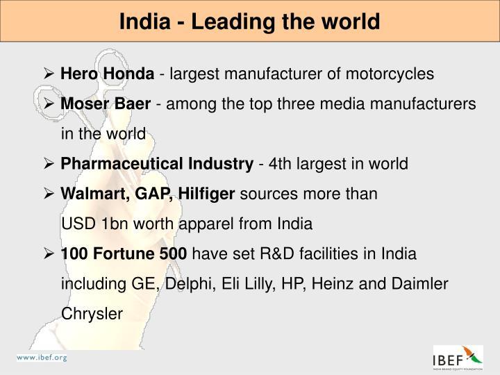 India - Leading the world