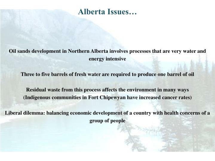 Alberta Issues…